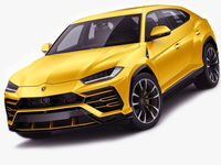 Lamborghini Urus 2019 3D Model