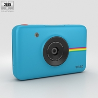 Polaroid Snap Instant Digital Camera Blue 3D Model