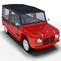 Citroën Méhari (with cover) 3D Model