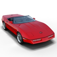 Chevrolet Corvette C4 Convertible 3D Model