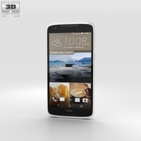 HTC Desire 828 Dual Sim Pearl White 3D Model