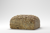 Photorealistic Sunflower Seed Bread 3D Model