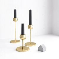 Candle Holder West Elm Modern Brass 3D Model