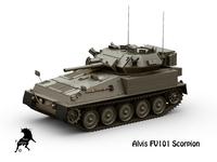 Alvis FV101 Scorpion 3D Model