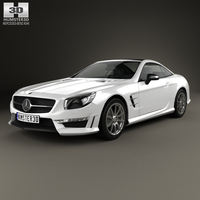 Mercedes-Benz SL-Class (R321) AMG 2013 3D Model
