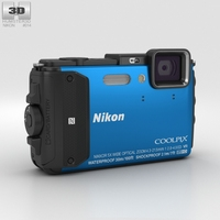 Nikon Coolpix AW130 Blue 3D Model
