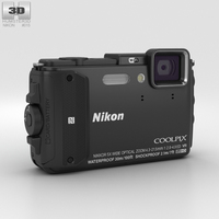 Nikon Coolpix AW130 Black 3D Model