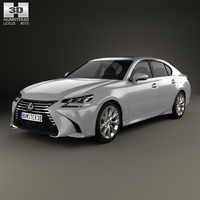Lexus GS 350 2015 3D Model