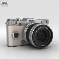 Pentax Q-S1 Silver 3D Model