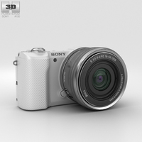 Sony Alpha A5000 White 3D Model