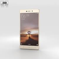 Xiaomi Redmi 3 Gold 3D Model