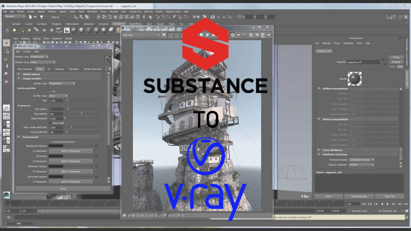 Substance Painter to Vray for Maya