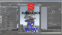 Substance Painter to Vray 0.0.4 for Maya (maya script)