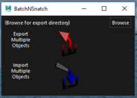Batch 'N Snatch mass Object export and mass import objects (.obj files) 0.0.2 for Maya (maya script)