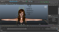 Sarah woman Character Rig 0.0.1 for Maya