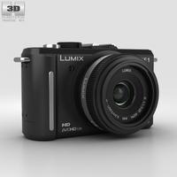 Panasonic Lumix DMC-GF1 Black 3D Model