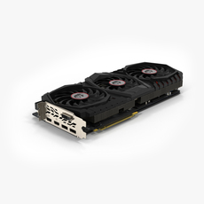 MSI GTX 1080 Ti GAMING X TRIO 3D Model