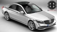 Mercedes S Class 2018 3D Model