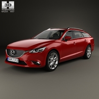 Mazda 6 GJ wagon 2015 3D Model