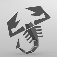 abarth logo 2 3D Model