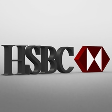 hsbc logo 3D Model