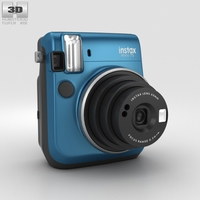 Fujifilm Instax Mini 70 Blue 3D Model