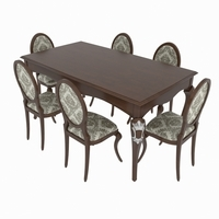 Dining set of classic Italian design consisting of a table and chairs Giorgio Casa- Memorie Venezia 3D Model