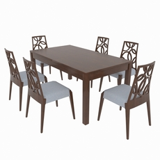 Dining set of classic Italian design consisting of a table and chairs GiuliaCasa Michelangelo 3D Model