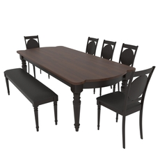 Dining set of classic design consisting of a table and chairs mebelsky fiorenca 3D Model