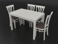 Dining set consisting of a table and chairs Ralf 3D Model