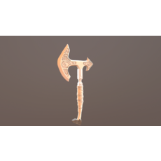 Battle Axe Poly 3D Model