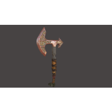 Battle Axe Tris and Polys 3D Model
