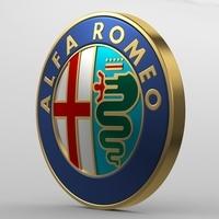alfa romeo logo 2 3D Model