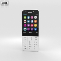 Nokia 230 Dual SIM White 3D Model