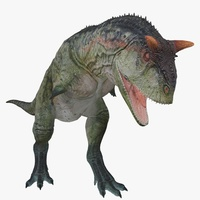 Carnotaurus Animated 3D Model