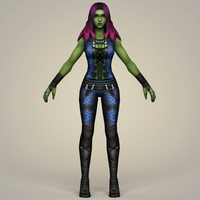 Gamora Fantasy Character 3D Model