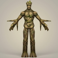 Groot Fantasy Character 3D Model