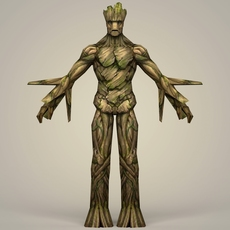 Groot Fantasy Character 3D Model
