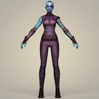 Nebula Fantasy Character 3D Model