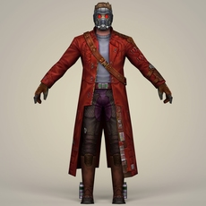 Star Lord Fantasy Character 3D Model