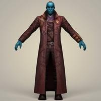 Yondu Fantasy Character 3D Model