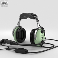 David Clark Standard Aviation Headsets 3D Model