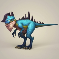 Game Ready Fantasy Dinosaur 3D Model