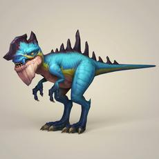 Game Ready Fantasy Dinosaur 3D Model