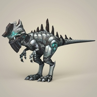 Game Ready Fantasy Robot Dinosaur 3D Model
