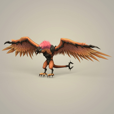 Fantasy Monster Bird 3D Model