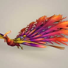 Game Ready Fantasy Phoenix 3D Model