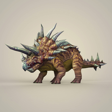 Game Ready Fantasy Triceratops 3D Model
