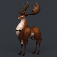 Game Ready Fantasy Deer 3D Model