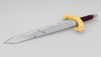 Stylized Viking Sword 3D Model
